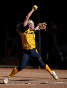 BERKELEY, CA - APRIL 2: Arizona State and Cal play softball at Levine-Fricke Field in Berkeley, California on April 2, 2016. (Photo by Brad Mangin)