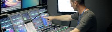 Artemis digital audio console at Al Jazeera