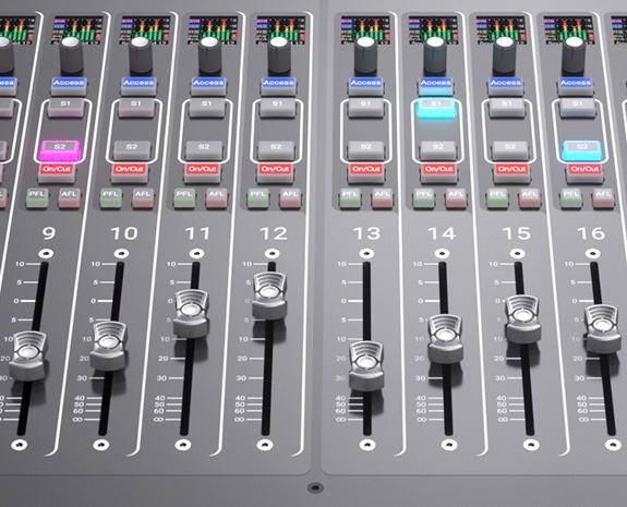 Brio audio console faders