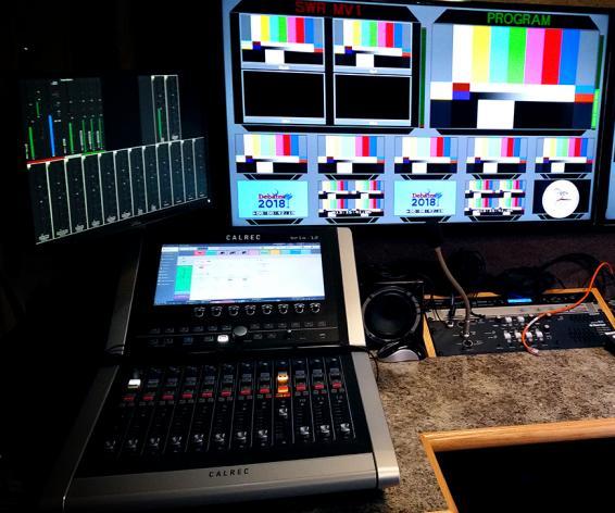 Brio digital audio mixing console at SCETV