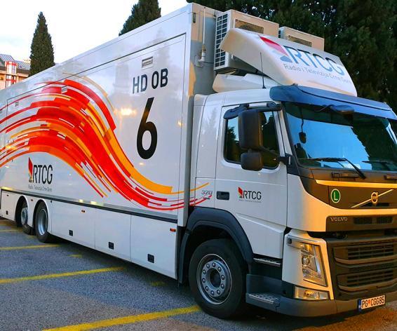 RTV Montenegro remote truck