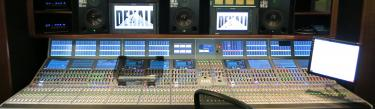 Calrec Apollo broadcast audio mixing console in Denali truck