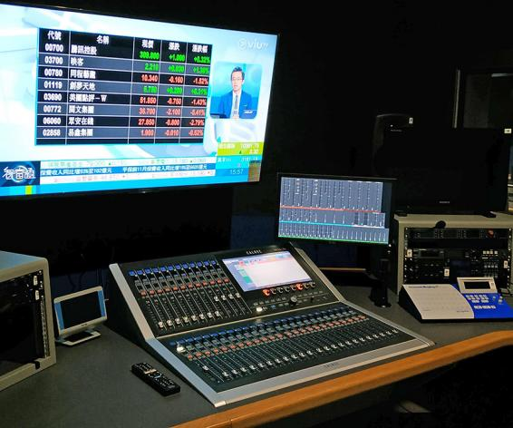 Calrec Brio digital mixing console ViuTV Hong Kong