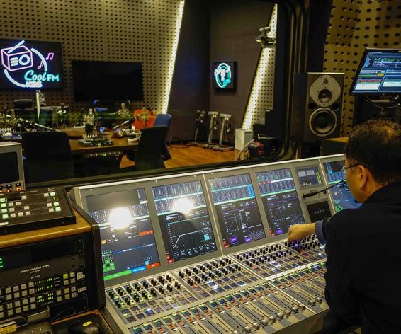 Calrec Artemis digital mixing console KBS Cool FM