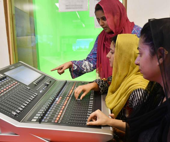 Calrec Brio digital mixing console at AAP Media Network Pakistan
