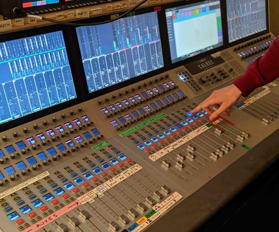 Calrec Summa digital mixing console at Wimbledon