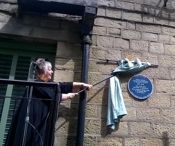 Mayor of Hebden Royd unveils Blue Plaque at Calrec Audio, Nutclough Mill
