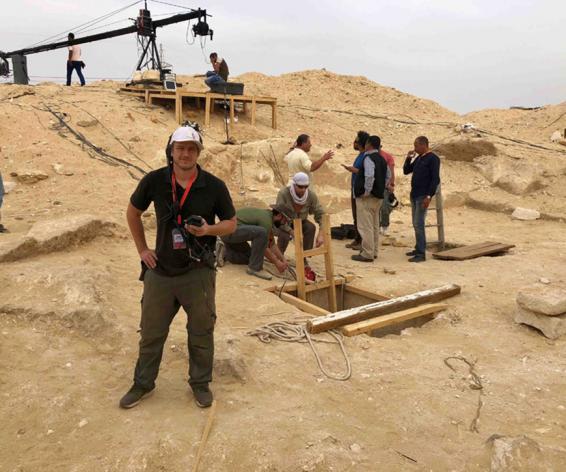 Mark Butler using Calrec Brio digital mixing console in Egypt