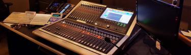 Calrec Brio digital mixing console Liberman Broadcasting