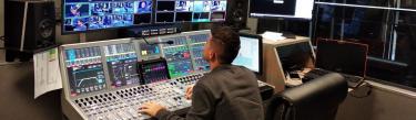 Calrec Artemis digital mixing console at Nash TV