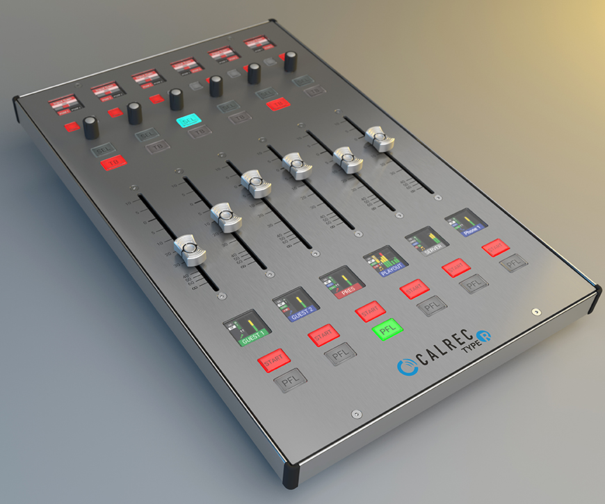 Calrec Type R digital mixing console fader panel