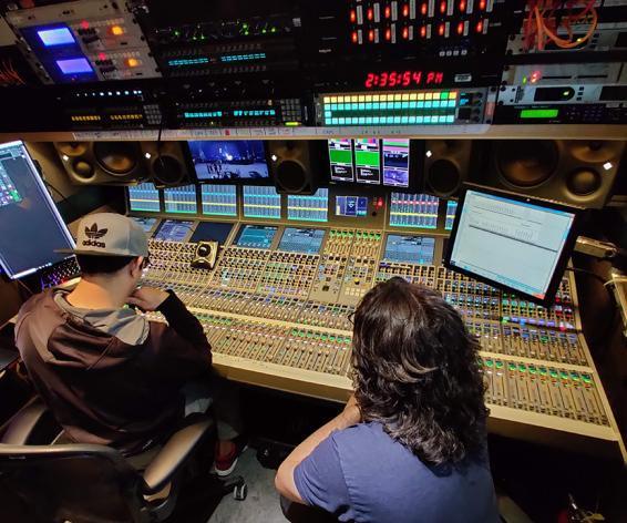 Calrec Apollo console in Dome Productions truck for Lady Gaga