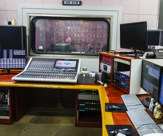 Brio audio console at JTV