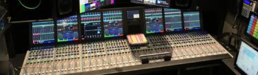 Calrec Artemis audio console in Mobile TV Group Flex