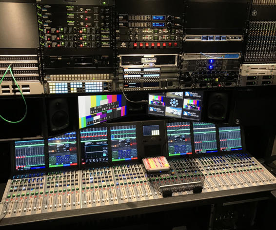 Calrec Artemis audio console in Mobile TV Group Flex