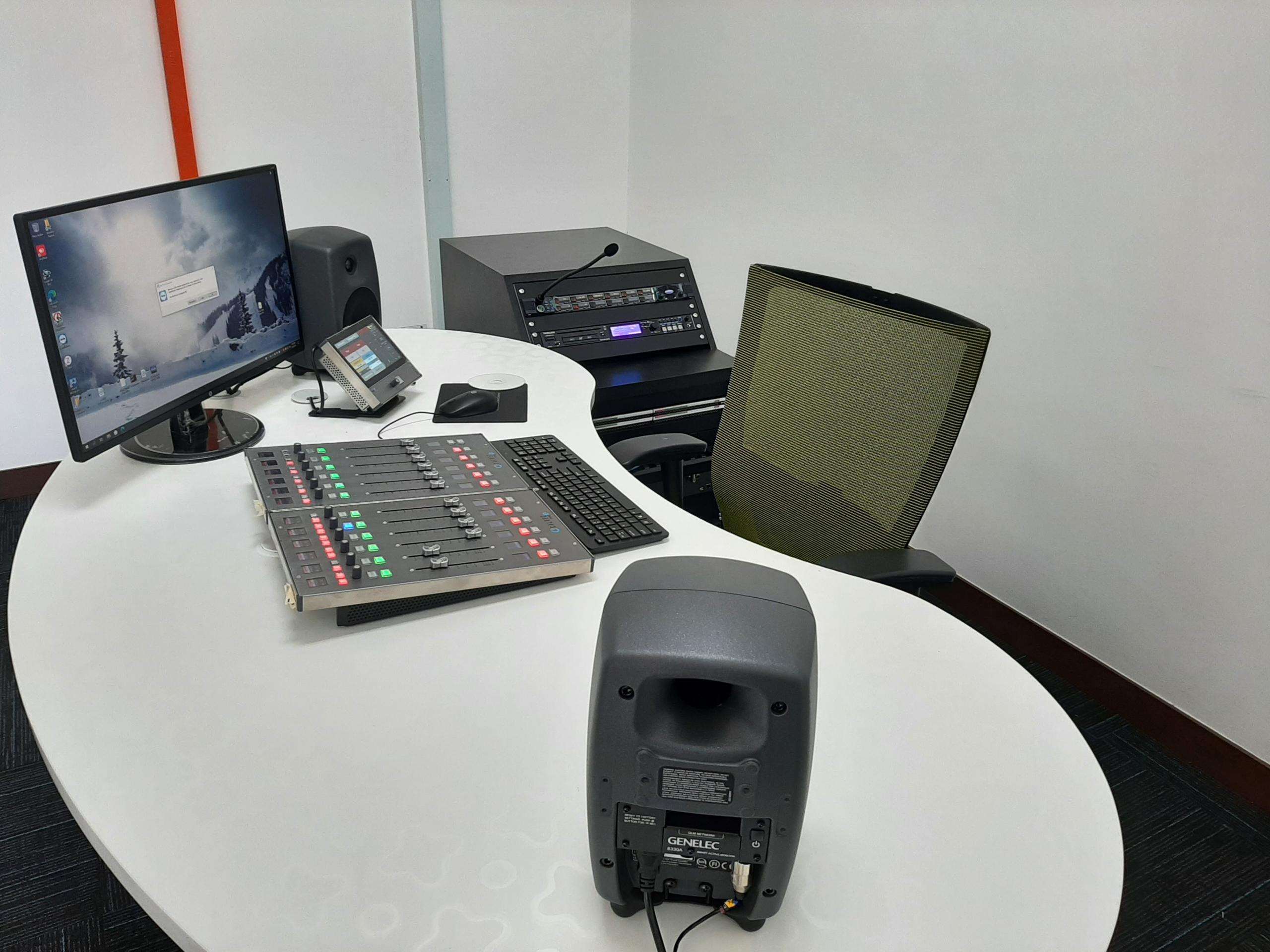 12 fader Calrec Type R with SSP and combo in the News Depot at RTM Perlis FM.
