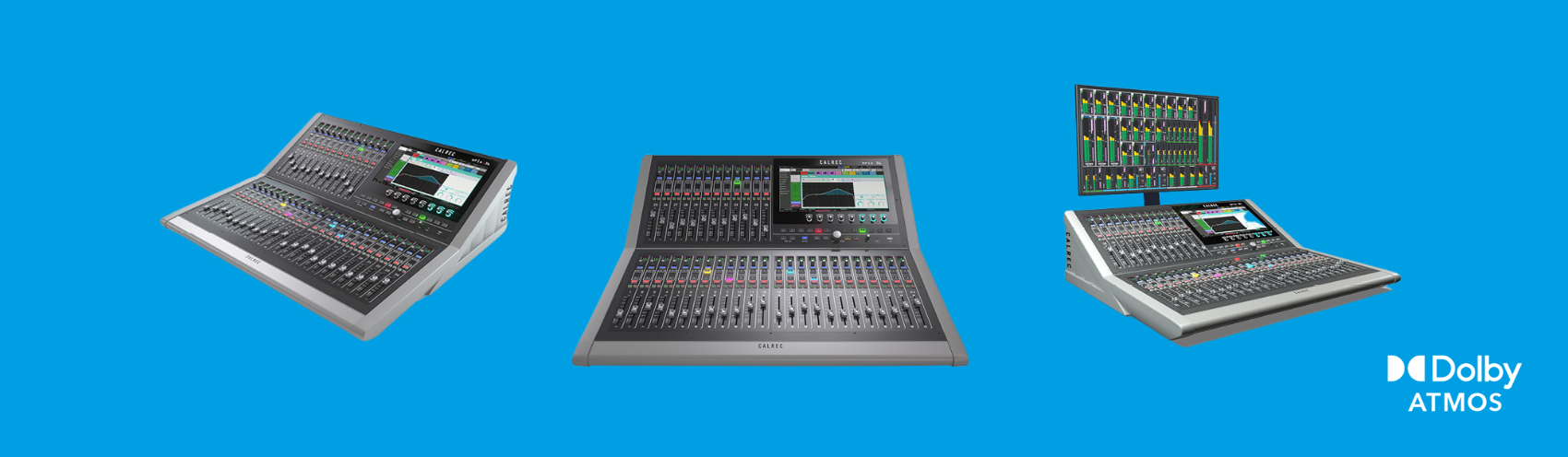 Dolby Atmos Training: Different viewpoints of the Calrec Brio digital broadcast audio console