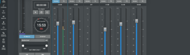 Faders on Calrec Assist web-based application