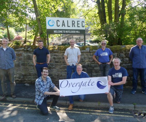 Members of staff outside Calrec ahead of their Yorkshire Three Peaks challenge